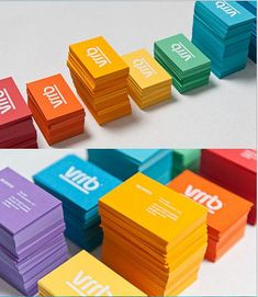 Tarjetas de visita coloridas  Colorful Business Cards