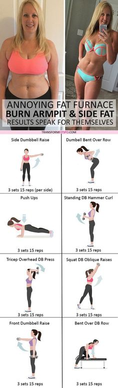 #womensworkout #workout #femalefitness Repin and share if this workout burned off your side fat! Click the pin for the full workout. diet workout toned arms