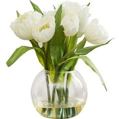 Tulips Arrangement with Vase Reviews (€40) ❤ liked on Polyvore featuring home, home decor, decor, nature and filler