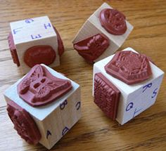 mounting unmounted rubber stamps alphabet stamp set tiny wood cubes