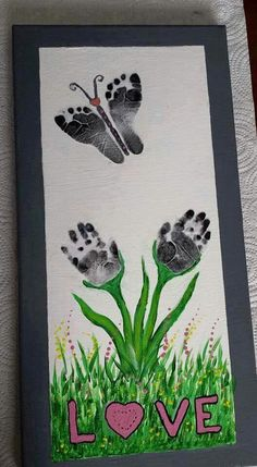 Cute art project for parents or grandparents #DIY