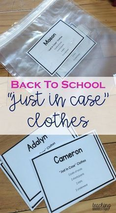 Back to school preparation is a busy time for kindergarten teachers. Be prepared knowing that you have spare change of clothes for your students in case of accidents is important to make sure they feel safe at school!