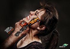 Stop the Violence: campagna sociale sui rischi della strada - Non correre #grafica #outdoor #adv #socialcampaign
