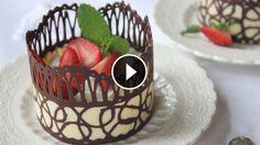 Chocolate Lace Dessert Cups - Recipe