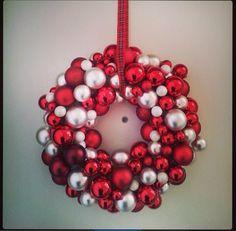 Kerstkrans gemaakt in 2013.