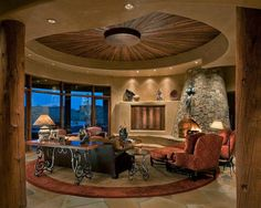 Furdown and ceiling lighting