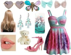 """Cotton Candy"" by hyperducky on Polyvore"