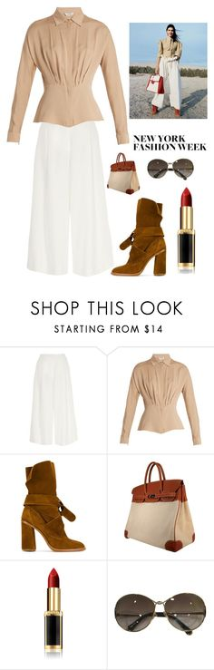 """""""NYFW"""" by kotnourka ❤ liked on Polyvore featuring River Island, Angelo, MaxMara, Casadei, Hermès and Louis Vuitton"""