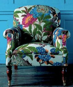 Common Mistake When Choosing an Accent Chair, Maria Killam -Don't Make this Common Mistake When Choosing an Accent Chair, Maria Killam - Linnet Embroidered Armchair Funky Furniture, Home Decor Furniture, Painted Furniture, Patchwork Sofa, Poltrona Bergere, Upholstered Furniture, Upholstered Accent Chairs, Interior Design, Decoration