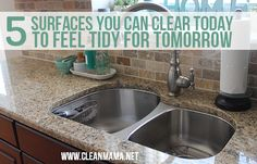 5 Surfaces You Can Clear Today to Feel Tidy for Tomorrow - simple tips that anyone can follow to feel better about getting organized!