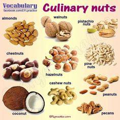 Nut vocabulary.