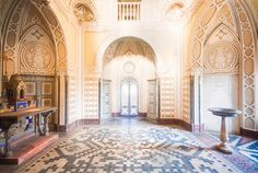 """Self-proclaimed """"photographer of abandoned places, Roman Robroke captures the stunning beauty of deserted historical buildings. Two years ago, Robroke traveled to the Italian castle called Castello di Sammezzano to navigate its exquisite beauty before decay."""