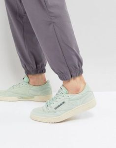 Reebok Club C Pastels Trainers In Green V67593