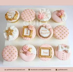 Romantic Cupcakes - cake by Guilt Desserts - CakesDecor Fondant Cupcakes, Fancy Cupcakes, Pretty Cupcakes, Beautiful Cupcakes, Fondant Toppers, Birthday Cupcakes, Cupcake Cookies, Cupcakes Design, Cake Designs