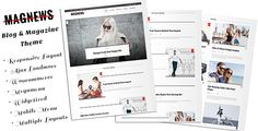 awesome Magnews - Clean Weblog and Magazine Theme (News / Editorial)