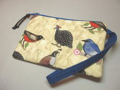 Handmade Padded Wristlet Purse with Attached by BagsOfaFeather, $17.00