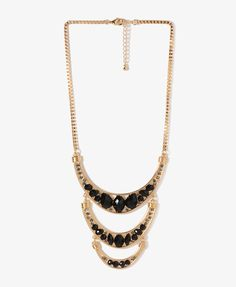 Tiered Crescent Necklace | FOREVER21 - 1025102200 $9.80