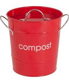 Premier 7.5 Litre Food Waste Compost Bin - Red.
