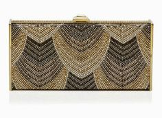 NEW Judith Leiber Negri Deco Pattern Crystal Minaudiere Collectible Retail $3995