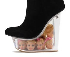 Would You Wear These Boots With Floating Barbie Heads In The Heel? | StyleCaster