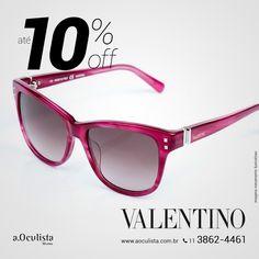 Óculos de Sol Valentino com Até 10% de desconto Compre em Até 10x Sem Juros e frete grátis nas compras Acima de R$400,00 Acesse: www.aoculista.com.br/valentino #valentino #glasses #oculosdesol #oculos #eyeglasses