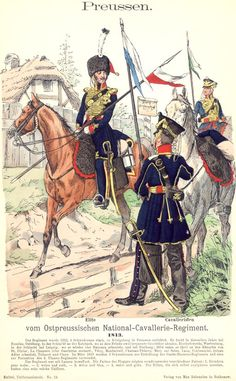 Preußen. Ostpreußisches National-Kavallerie-Regiment. 1813, by Richard Knötel.