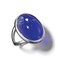 China Blue Oval Ring