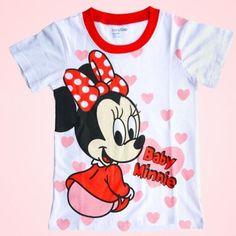 Kids-Girls-Mickey-Minnie-Mouse-Cute-Tops-T-Shirts-Blouse-Summer-Clothing-1-7Y **************************************** eBay: חולצה מתוקה מכותנה של מיני לילדות עד גיל 7 מ-13 ₪ + משלוח חינם!