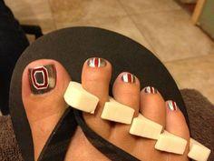 Buckeye toes!! How cool!!