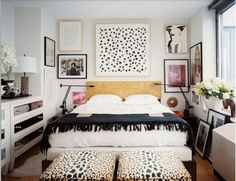 eclectic bedroom via lonny