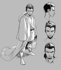 Young Kanan, or Caleb Dume, as a Jedi Padawan - Art by Pepe Larraz for the upcoming Marvel comic Kanan: The Last Padawan