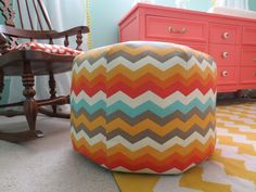 I'm back with another nursery DIY project! I feel like I haven't jumped too far onto the chevron bandwagon yet, until I realized the two...