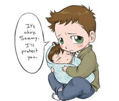 dean and sam awwww!!!!  LOOVVVVEEEEEEEEEEEEEEEEEEEE!!!!   so super love i can't take it...  happy tears.........  :DDDDDDDD