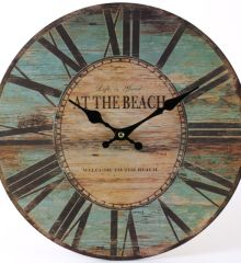 retro look beach clock .Perfect for your beautiful room
