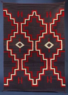 Navajo, Germantown weaving, circa 1880 - made with Germantown, Pennsylvania yarn -