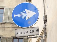 Florence Italy street art Clet Abraham – this way fish