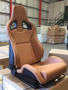 Recaro Lotus Evora Cognac Brown Seats