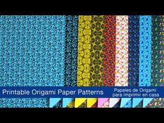 Printable Origami Papers -Papeles de origami