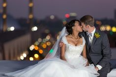 Rooftop Bridal Portraits | Club 1000 | Kansas City Wedding Photographer | www.anthem-photo.com