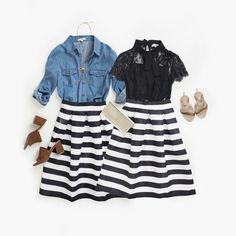 Two ways to Style striped skirts!