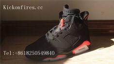 28d0c40dcc5 Authentic Air Jordan 6 Retro Black Infrared Nike Logo