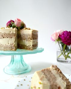 Hummingbird Cake with Cashew Cream Frosting (Raw, Vegan) by Plantbased Baker