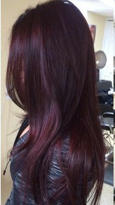 35 Shades of Burgundy Hair Color for 2019 Hair Color plum hair color Pelo Color Vino, Pelo Color Borgoña, Red Hair Color, Cool Hair Color, Purple Hair, Burgundy Color, Maroon Hair, Long Burgundy Hair, Color Red