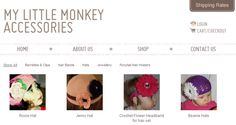 My Little Monkey Accessories is an online store that sells a variety of accessories for little girls.