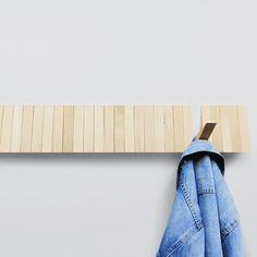 The Switchboard Hanger is a beech wood coat rack with hooks that transform… Coat Hanger, Coat Hooks, Decoration Entree, Standing Coat Rack, Wooden Coat Rack, Wall Hooks, Interior Design Living Room, Design Trends, Design Design