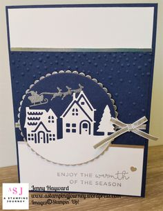 One last Christmas card. This one using the Hearts Come Home Bundle and a little embossing.