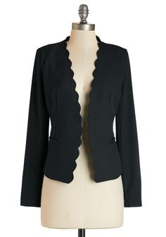 Detour du Jour Blazer in Black. Every day you like to take a new path or try a novel style - such as this black blazer - to keep your mind and mood alive! #black #modcloth