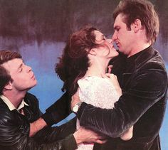 Promo shot of Mark Hamill, Carrie Fisher and Harrison Ford in Star Wars: Episode V