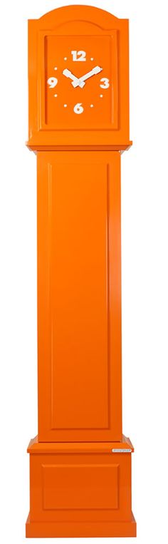 'color your life - orange' grandfather clock from dutch firm studio cloggy Orange Clocks, Orange You Glad, Coral, Orange Crush, Orange Is The New Black, Happy Colors, Burnt Orange, Orange Orange, My Favorite Color