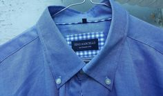 Men's GINO Marcello Shirt XL 43/44 Blue Made In Italy Brand New Casual Formal